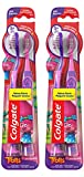 Colgate Kids Toothbrush with Extra Soft Bristles and Suction Cup Holder, Trolls - 4 Count