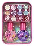 Markwins POP GIRL Color Tin Rainbow X12 - Mini Lata Arcoiris de Maquillaje - Set de Maquillaje para Niñas Completo - Juguetes Niñas - Selección de Productos Seguros en una Lata Moderna y Fashion