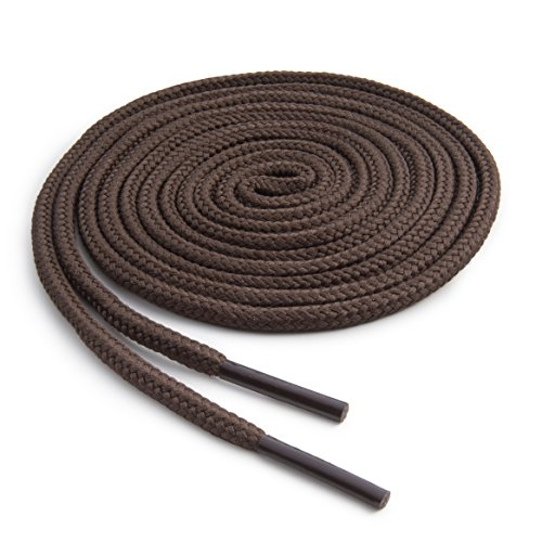 OrthoStep Round Athletic Brown 30 inch Shoelaces 2 Pair Pack