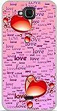Soft TPU Case Gel Wiko Slide 2Hearts Design Love On Pink