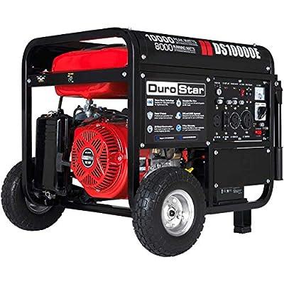 Durostar DS10000E Gas Powered 10000 Watt Electric Start Portable Generator, Red/Black