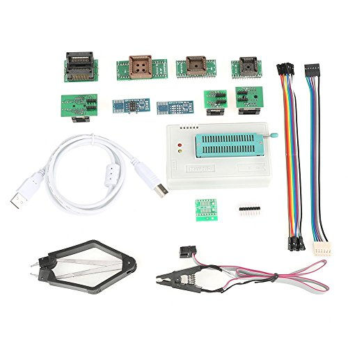 USB Universal Programador para TL866II Plus EEPROM FLASH 8051 AVR MCU GAL PIC con 10 Adaptador