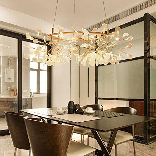 lemumu Lucciola lampadari soggiorno ristorante minimalista profilo di personalità,diametro dell'OSCE lascia 105CM warm-135 Leaf
