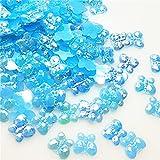 MURUI NK 100/300 unids Mezcla Resina 10 mm Mariposas Coloridas Espalda Plana gritos de Diamantes de imitación Bricolaje Craft Scrapbook de Boda Y914 (Color : Blue, Size : 300PCS)
