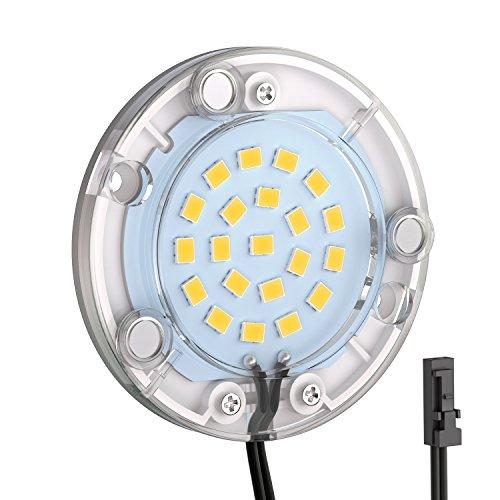 ledscom.de LED Unterbau-Leuchte Maja, rund, flach, 6cm Ø, 290lm, warm-weiß