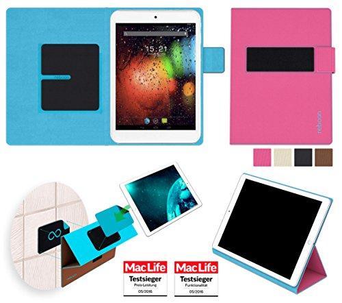 Hülle für Fly Flylife Web 7.85 Slim Tasche Cover Hülle Bumper | in Pink | Testsieger