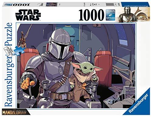 Ravensburger, Puzzle 1000 pezzi, Star Wars, Lucas Film, Lucasfilm, Puzzle da Adulti Starwars, The Mandalorian