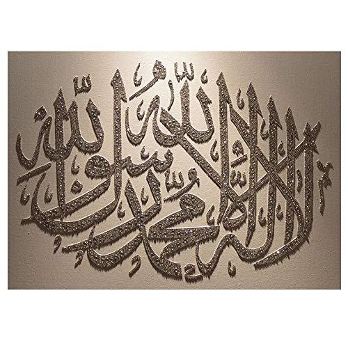 neivy Religion Muslim islamisch Allah 5D Diamant-Mal-Kits für Erwachsene Malen mit Diamanten Kunst Malen nach Zahlen Vollbohrung Strass Bastel Leinwand für Home Wall Decor (Quadrat 40x50cm)