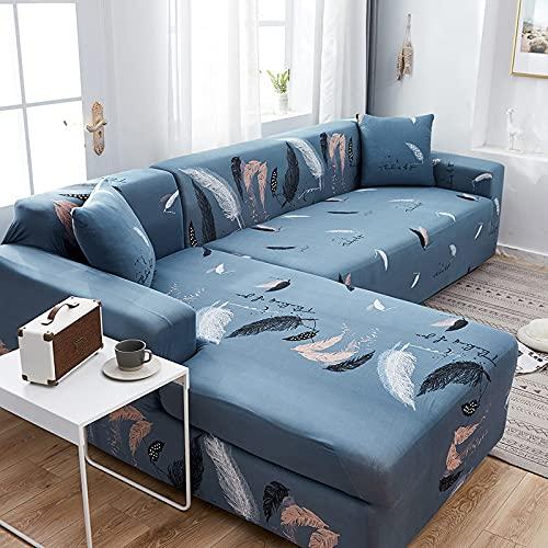En Forma de L Necesita Comprar 2 Piezas de Fundas de sofá de Esquina elásticas para Sala de Estar Funda Impresa para Fundas de sofá sofá elástico A8 de 4 plazas