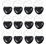 Kicko Plastic Pirate Eye Patches Black - Pack of 12-2.25 inches - Pirate Costume Eye Patches - Costume Accessory - for Kids and Adults, Party Favors, Bag Stuffers, Fun, Prize