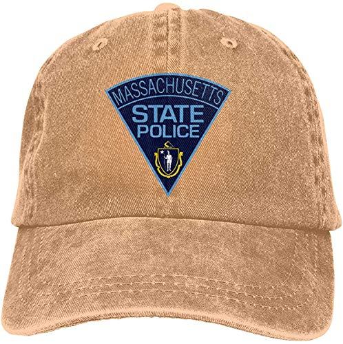 TSDFC Massachusetts State Police Adjustable Baseball Caps Denim Hats Cowboy Sport Outdoor,Natural,One Size