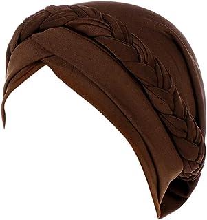 Women Muslim Plain Color Stretch Head Wrap Hat Ponytail Retro Elegant Turban Cancer Beanie Scarf Headwear Hat Cap
