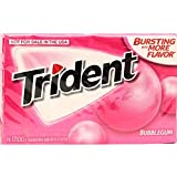 Trident Bubble Gum, 14 Sticks, 20 g