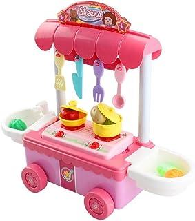 おままごとキッチンセット キッチン玩具 音楽照明ふり女の子おもちゃ電気ロールプレイ 家事玩具 キッチン用品おもちゃ音楽