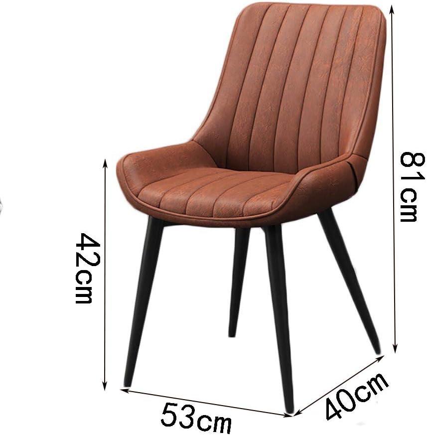 Chaise occasionnelle chaise de salon Chaise de repas Art de fer Canapé doux Ménage restaurant Dossier 53 cm * 40 cm * 81 cm (Couleur : J) A