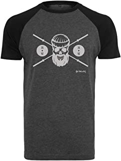 Hombres Baseball Shirt - Barbell Skull