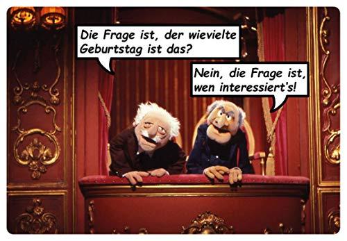 Blechschild 20x30cm gewölbt Waldorf Statler Muppet Show Geburtstag Deko Geschenk Schild
