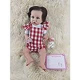 HDBD muñecas 23 en Aspecto Realista bebé Silicona recién Nacido Cuidado fácil Juguete Lavable