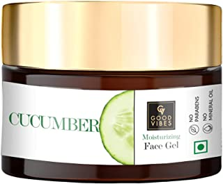 Good Vibes Cucumber Face Gel 50 g, Skin Hydrating Soothing Light Weight Formula, Helps Reduce Redness, Puffiness & Blemish...