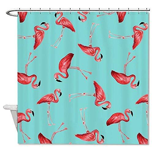 Rioengnakg Duschvorhang mit Flamingo-Muster, schimmelresistent, wasserdicht, aus Polyester, #1, 66