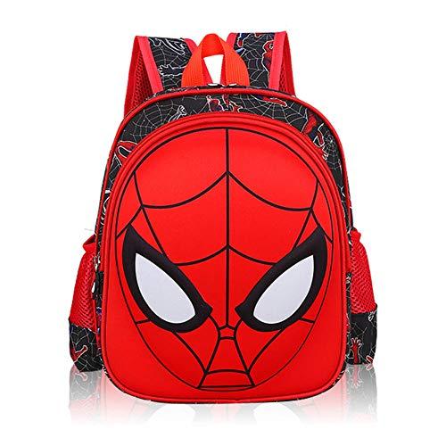YUIP Mochila con bolsa 3D  Spiderman  impermeable  Mochilas con diseño de héroe cómico