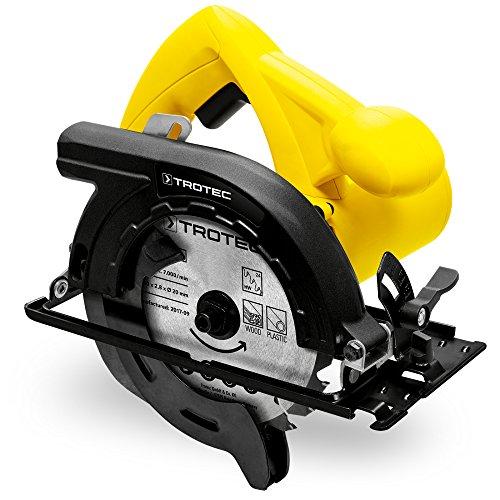 TROTEC Handkreissäge PCSS 10-1200 Kreissäge | Pendelhub | Sägen | 1.200W Leistung | Schnitttiefe: 55mm | Leerlauf Drehzahl: 5.000 min-1 | Sicheres Sägen | Garantierte Sicherheit