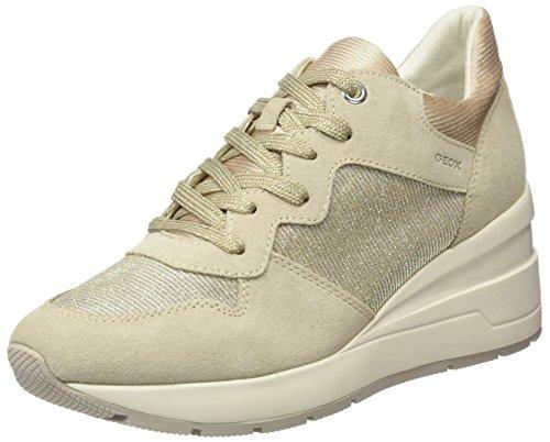Geox D Zosma C, Zapatillas para Mujer, Beige (Lt Taupe), 39 EU