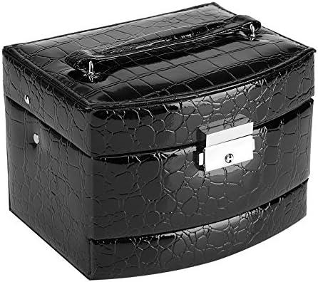 Sieraden Box 3 Lagen Opbergtas voor Sieraden Ketting Ring Paars Roze Zwart Sieraden Opbergdoos Zwart