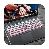 Silikon-Tastaturhülle für Laptop mit 15,6 Zoll (39,6 cm) für DELL Vostro 15 5568 3562 3568 V3568 Vostro15 5000 V5568 Vostro 3559 2628 7570 -Gradual-Pink -