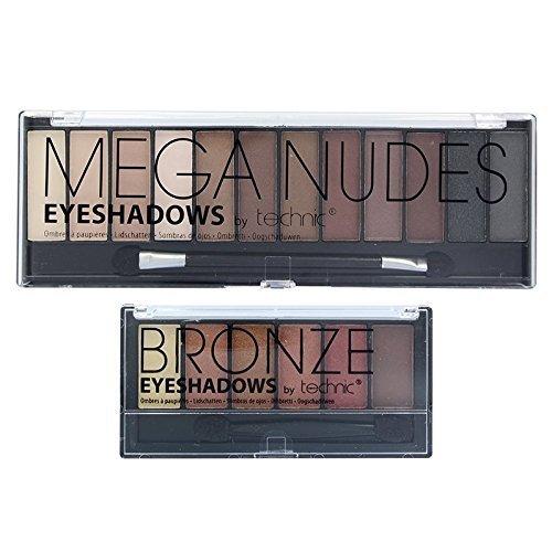 Technic Mega Nudes Philadelphia Mall 6 Bronze Palette Shadow Max 67% OFF Eye Set