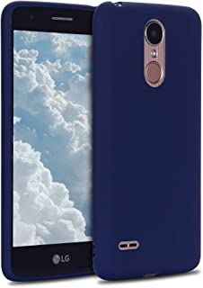 MOSORIS Funda LG K8 2017, Azul Oscuro Carcasa de Mate Superficie [ Anti-Huella Dactilar ], Suave TPU Silicona Tapa Ultra Delgado Protectora Case Anti-Aranazos Espalda Cubierta Trasera Cover