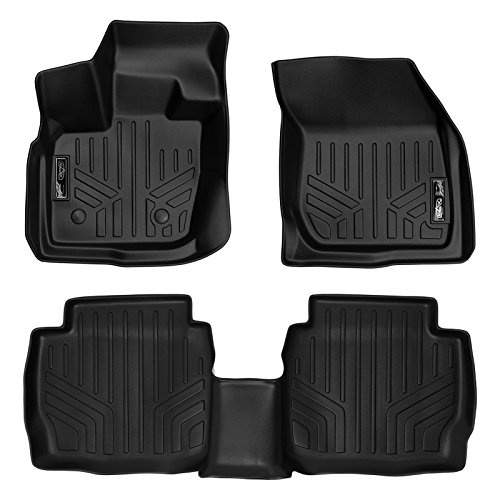 SMARTLINER Custom Fit Floor Mats 2 Row Liner Set Black for 2017-2019 Ford Fusion/Lincoln MKZ