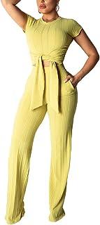 04100b9a117 Women  s Sexy Wear One Shoulder Long Split Sleeve High Waist Long Pants  Jumpsuits Romper