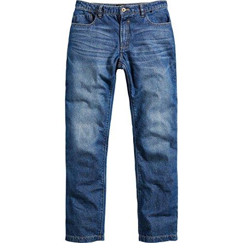 Spirit Motors Motorrad Jeans Motorradhose Motorradjeans Herren Jeans mit Schutzfunktion, 5-Pocket-Jeans, Boot-Cut Style, Knieprotektoren-Taschen, Abriebfeste Aramid-/Baumwolljeans, Blau, 34/32