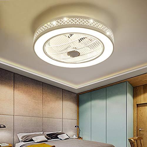 Deckenventilator Licht Fernbedienung LED Gitterlüfter Lampe Dimmbares Schlafzimmer Büro 220V