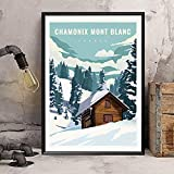 zuomo Frankreich Chamonix-Mont-Blanc Vintage Reise Poster