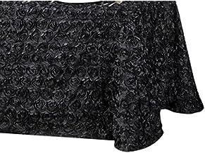 LinenTablecloth Rosette Rectangular Tablecloth 154 Inch