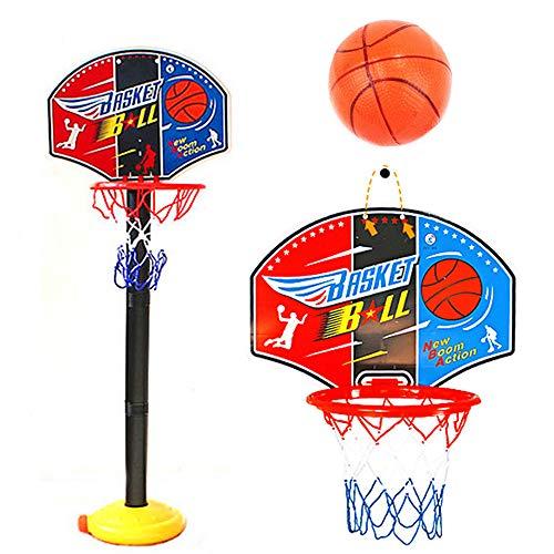 YYR Kleinkind-Basketballkorb Ständer, einstellbare Höhe 2.5 ft -5,1 ft Mini Indoor Basketball-Ziel-Spielzeug für Jungen, Mädchen, Spielen im Freien Sport für Age 2 3 4 5 Jahre alt
