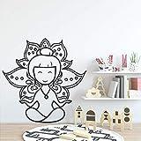 mlpnko Cute Girl Lotus Etiqueta de la Pared Moderna decoración de la Pared...