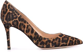 GIANVITO ROSSI Women's G2458085RICCMDALLP Brown Suede Pumps