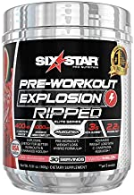 Six Star Explosion Pre Workout, Powerful Pre Workout Powder with Extreme Energy, Focus and Intensity , 30 Servings, 5.91 oz