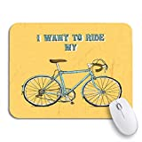 Gaming mouse pad hipster vintage bycicle fahrrad fahrrad fahrrad brett fahrrad gezeichnet rutschfest gummi backing mousepad für notebooks computer maus matten
