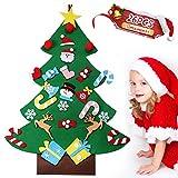 GeeRic Árbol de Navidad, Decoraciones navideñas DIY Window Showcase Decoraciones navideñas, Árbol de Navidad Fieltro DIY Juguete de Navidad para niños Casa Pared