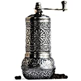 Bazaar Anatolia Pepper Mill, Spice Grinder, Pepper Grinder, Turkish Grinder (Dark Silver, 4.2')