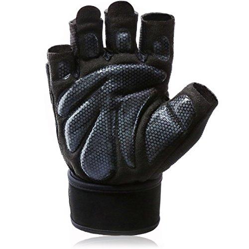 HOTARU トレーニンググローブ 筋トレ グローブ ジム ウェイトトレーニング用グローブ 男女兼用ブラックL