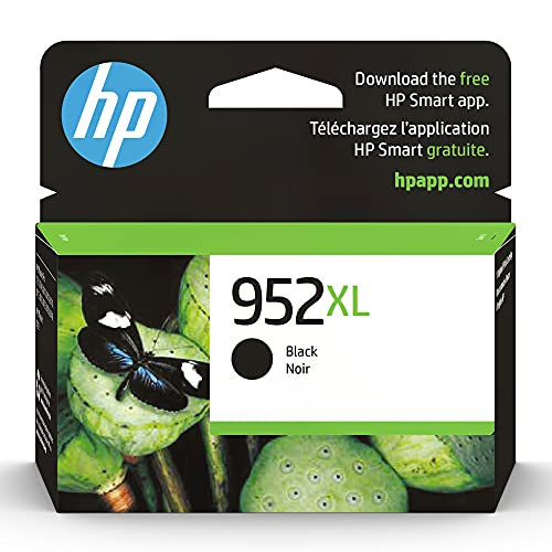 Original HP 952XL Black High-yield Ink Cartridge | Works with HP OfficeJet 8702, HP OfficeJet Pro 7720, 7740, 8210, 8710, 8720, 8730, 8740 Series | Eligible for Instant Ink | F6U19AN