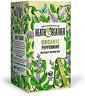 Heath & Heather Té Menta Orgánica, 20g, caja de 20