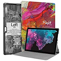 MAITTAO Microsoft Surface Pro 6 case 2018,Slim Smart Cover Stand Case for Surface Pro 6 / Pro 5 2017 / Pro 4 / Pro LTE 12.3-inch Tablet Cover,Compatible with Type Cover Keyboard, Creative Brain 13