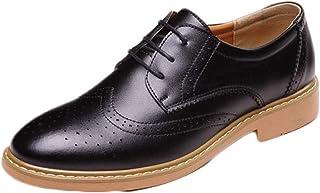 [DOUERY LTD] ブロック ビジネスシューズ 紳士靴 メンズ 通勤 通気性 防臭性 レースアップ スリッポン ラウンドトゥ 純色 個性的身長アップ大きなサイズ 防水 格好良い 仕事 滑り止め フォーマル オフィス