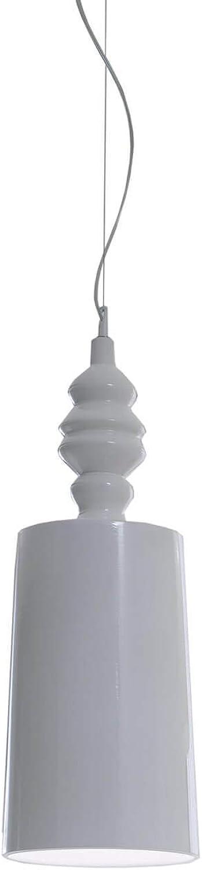 Karman alì e babà, lampada a sospensione Ø25 cm,in ceramica bianca lucida SE625BC